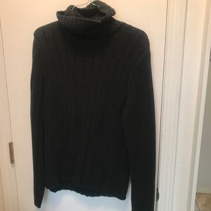 M - Eddie Bauer - Black - Turtleneck Sweater
